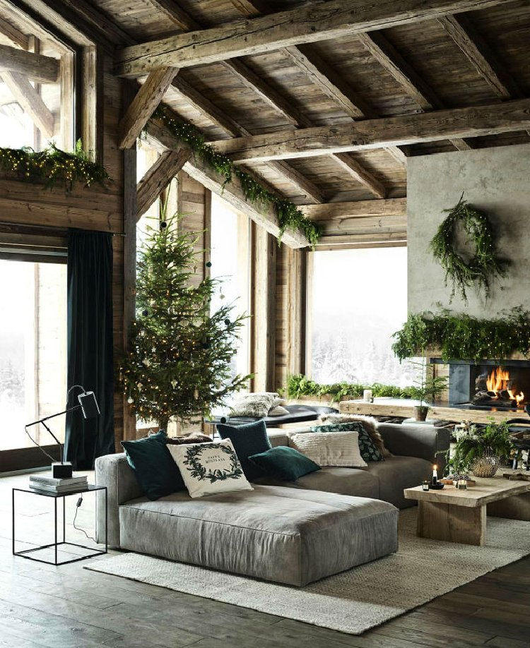Dark timber beams as home decor and beautiful home accent