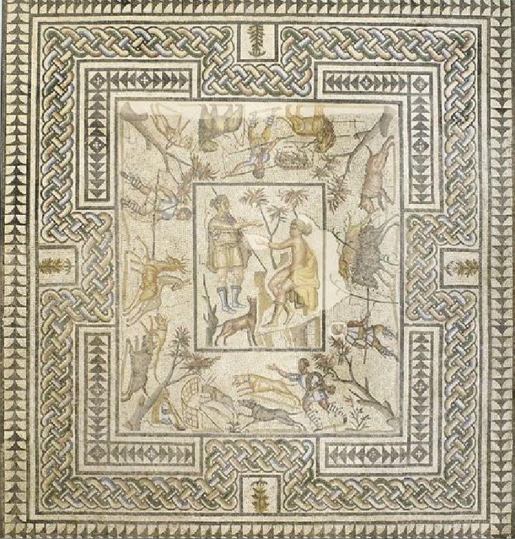 custom traditional roman mosaic artwork