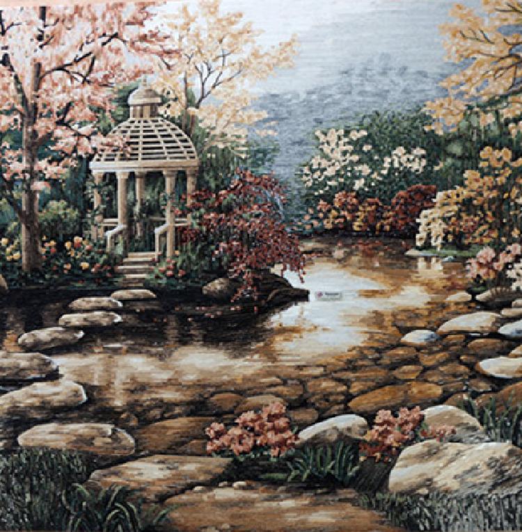 A romantic mosaic design depicting a gorgeous Gazebo