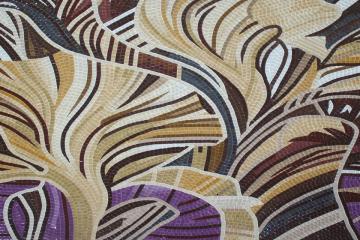 Abstract handmade mosaic artwork