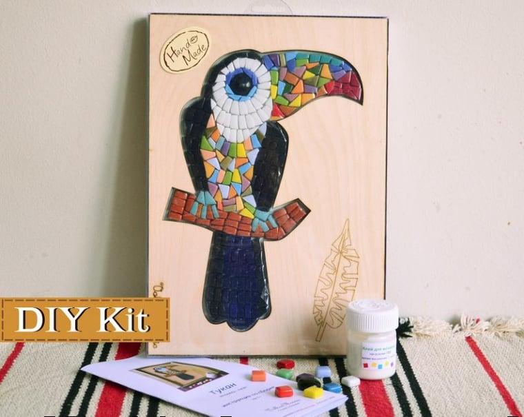 DIY mosaic art kit for kids