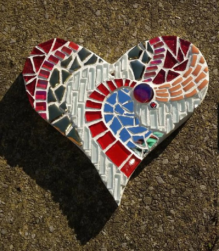 A beautiful and cute mosaic design heart