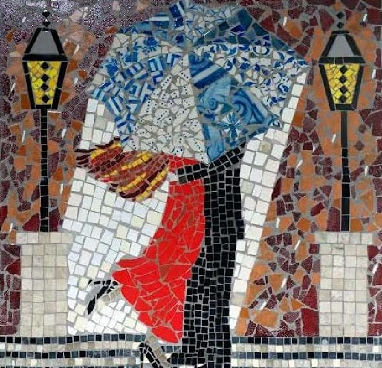 Valentine Mosaic art that captures the heart and mind by Mosaics Lab