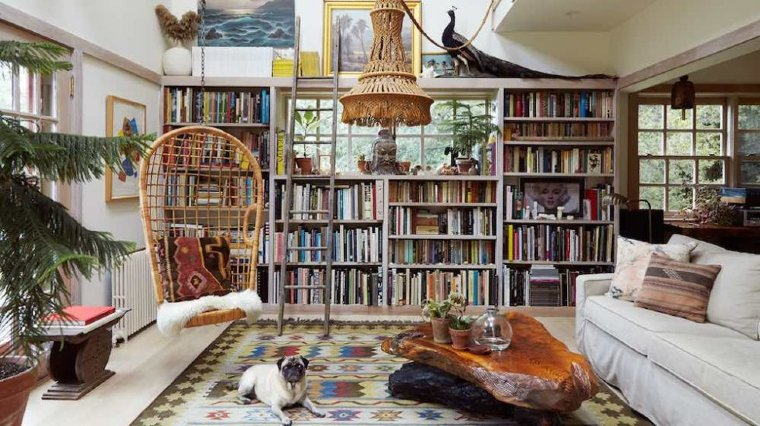 Maximalism interior design living room