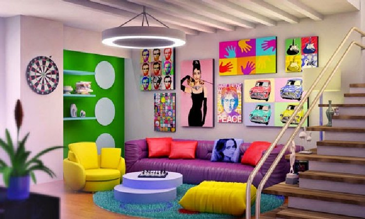 Colorful living room | Mosaics Lab