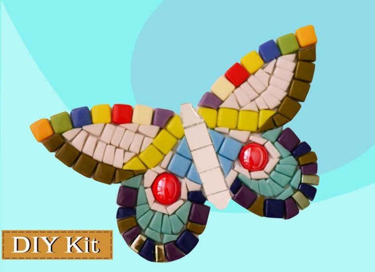 DIY Mosaic Kit of a butterfly for kids
