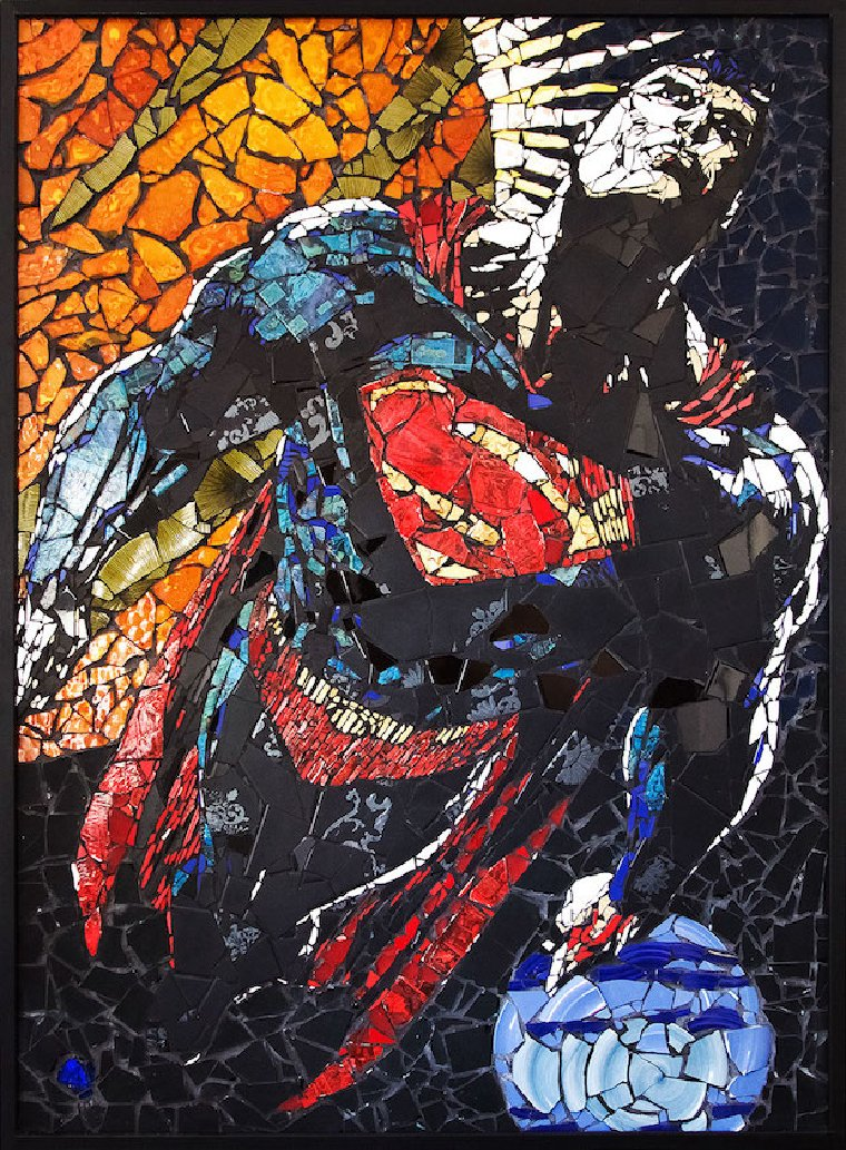 Superman mosaic artwork by Jason Dussault