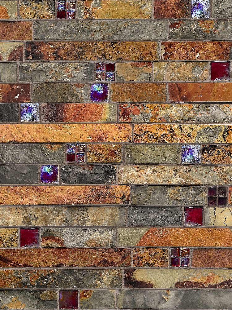 Gorgeous glass and stone tiles