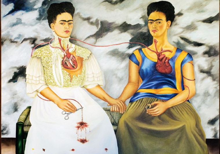 Frida's self portrait and representation of herself