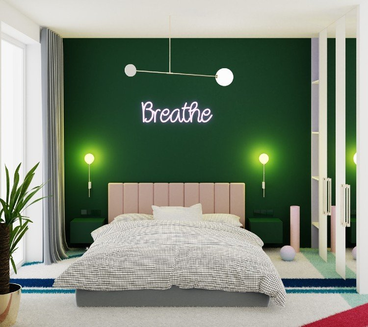 Breathe lighting decor elevates the bedroom decor
