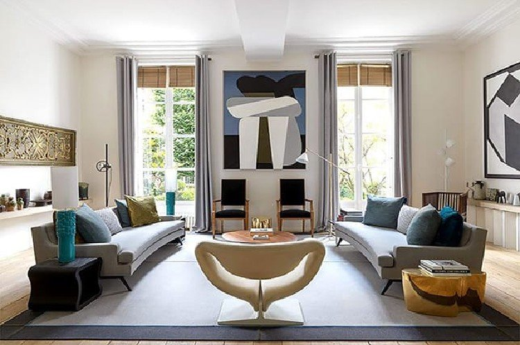 Symmetry makes a living room perfect