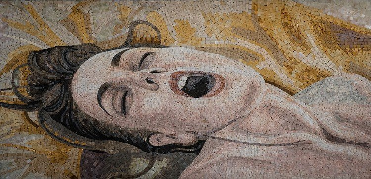 Ecstasy: Contemporary mosaic artwork from Modern Mosaic Gallery.