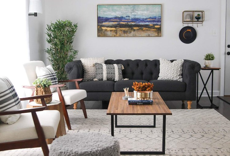 Lifted furniture make a small space looks bigger