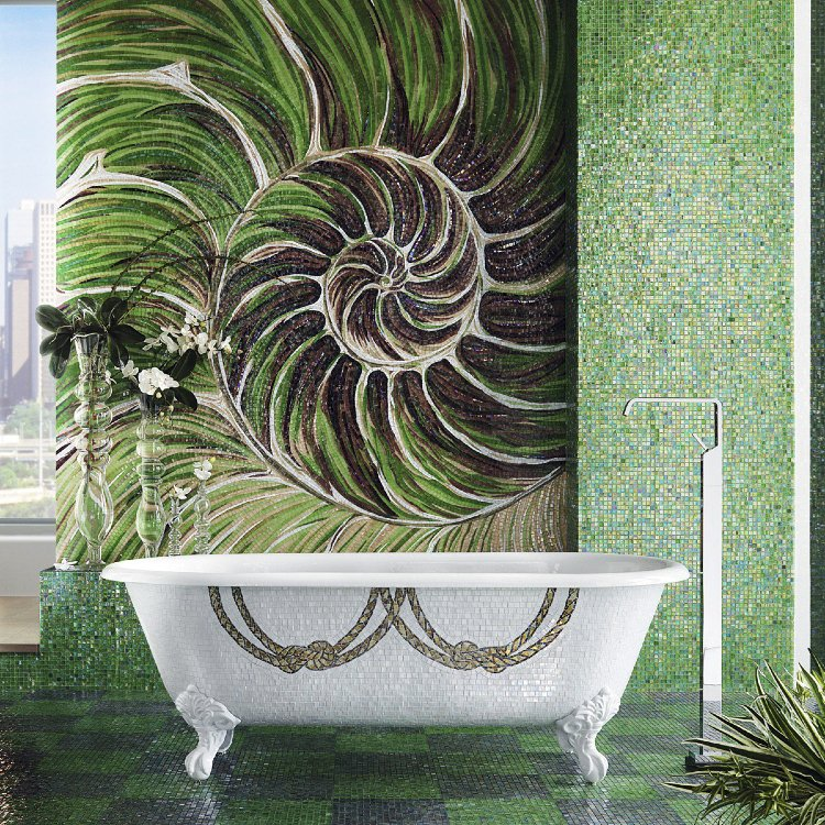 Gorgeous bathroom mosaic design by Sicis