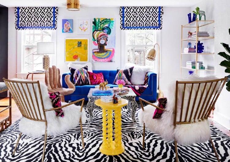 Maximal and animal print make a gorgeous interior design.