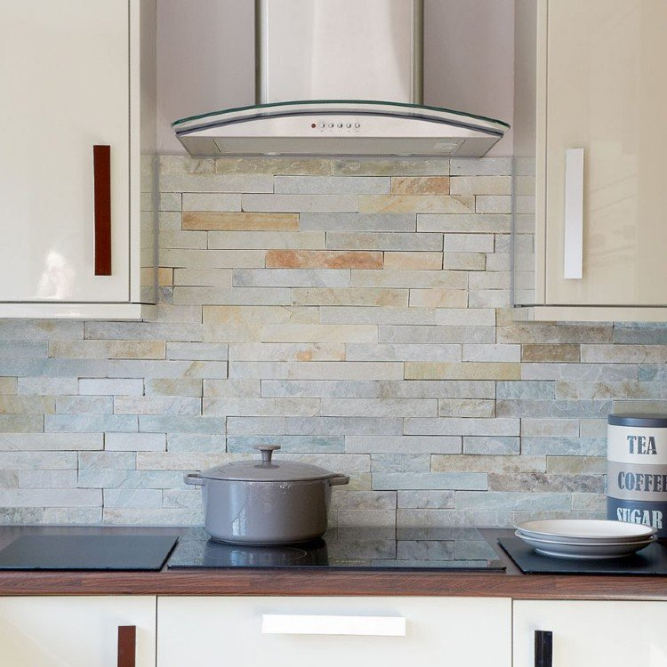 simple kitchen mosaic backsplash tiles.