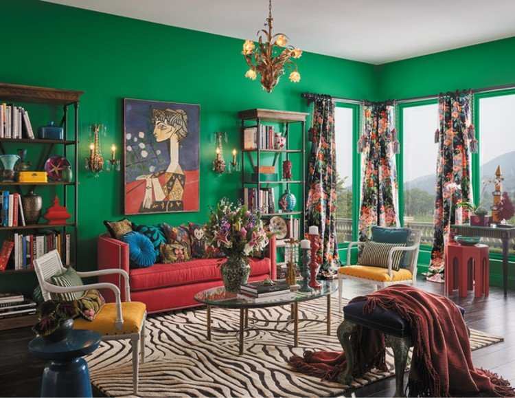 Curtains and rugs add beautiful layers.