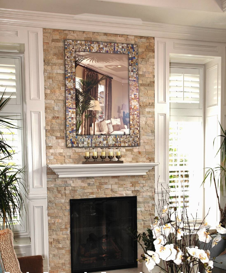 Gorgeous Mosaic border mirror.