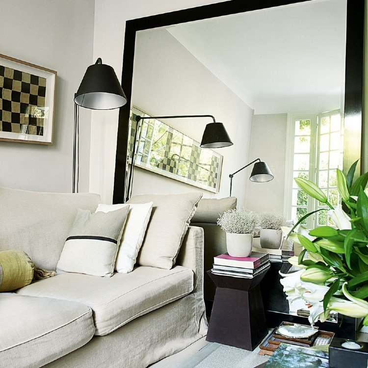 Mirrors will usually enhance the home interiors.