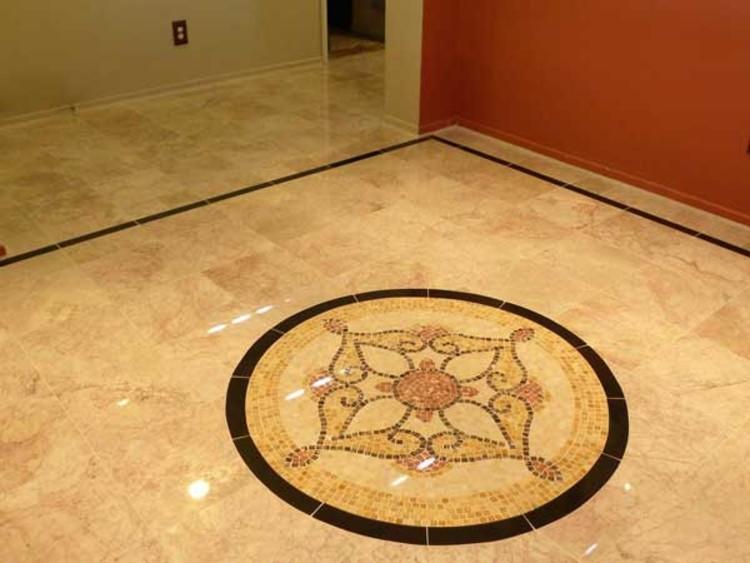 Bedroom mosaics floor inlay