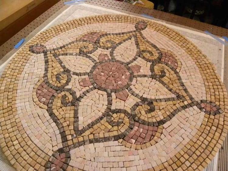 Gorgeous bedroom mosaic medallion
