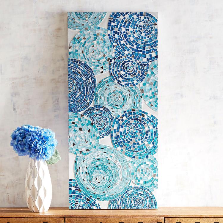 Beautiful bedroom mosaic artwork