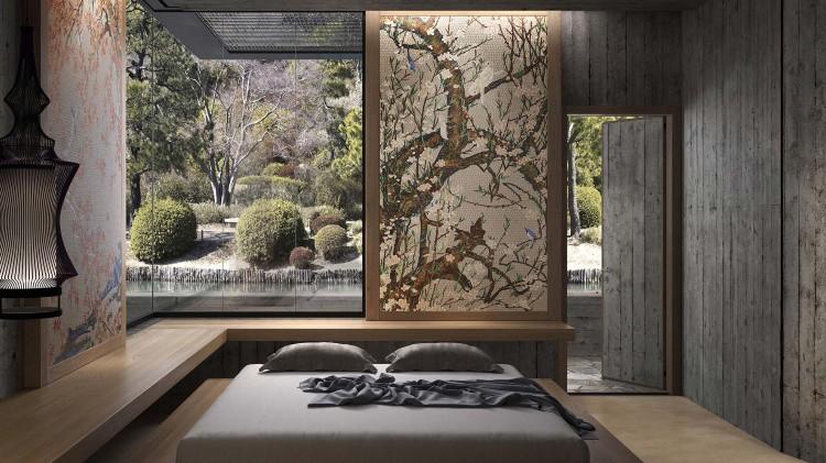 Stunning bedroom mosaics artwork