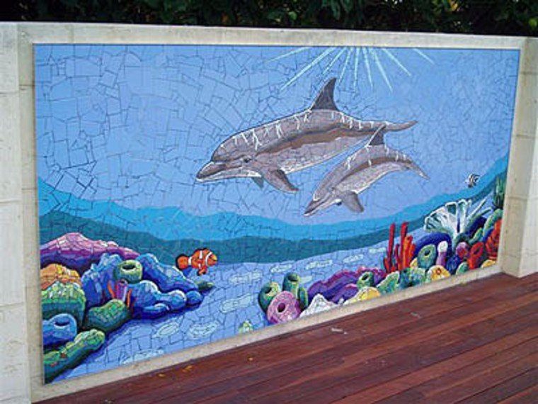 Dolphins mosaic design artwork