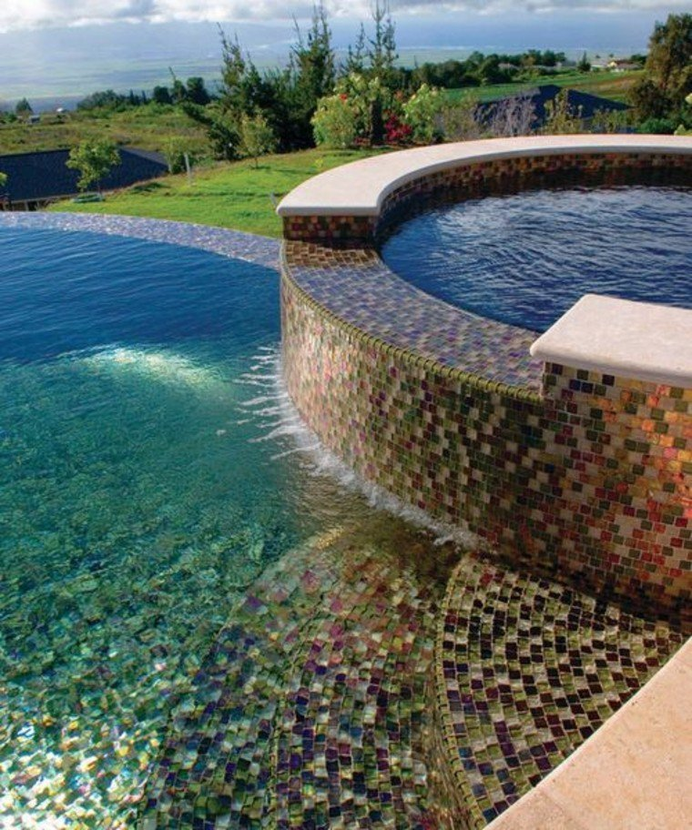 Classic and beautiful pool mosaic art