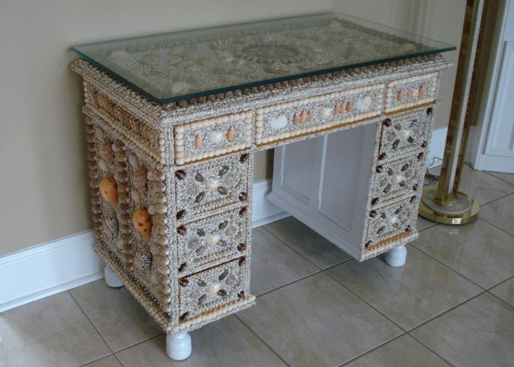 Gorgeous mosaic art office furniture.