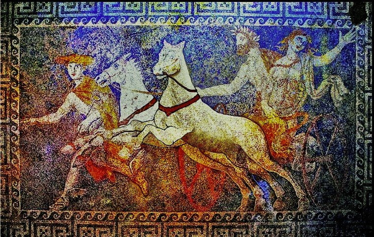The abduction of Persephone mosaic design