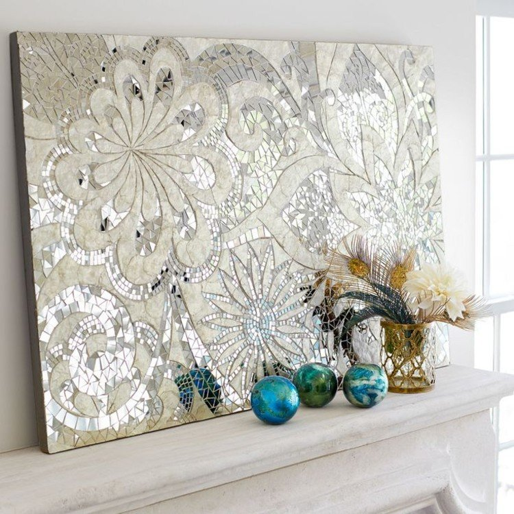 Bedroom mosaic wall art is a perfect option to elevate the bedroom