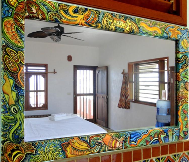 Bedroom mosaic mirror frames