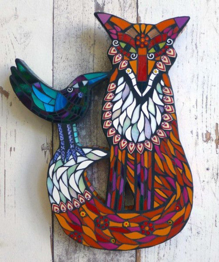 Colorful Fox Mosaic design