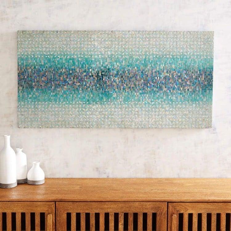 Gorgeous bedroom mosaic mural