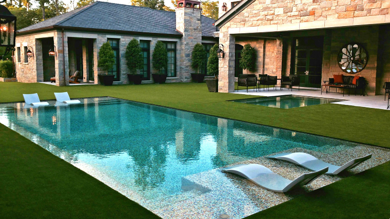 Seamless pool mosaic design
