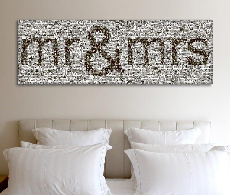 Gorgeous bedroom mosaic wall artwork.