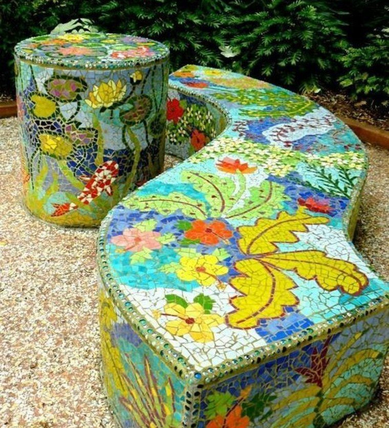 Beautiful Garden Mosaic Artwork