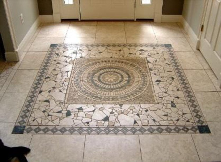 Floor mosaic inlay