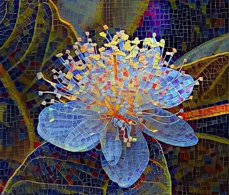 Contemporary Mosaic artwork with beautiful background