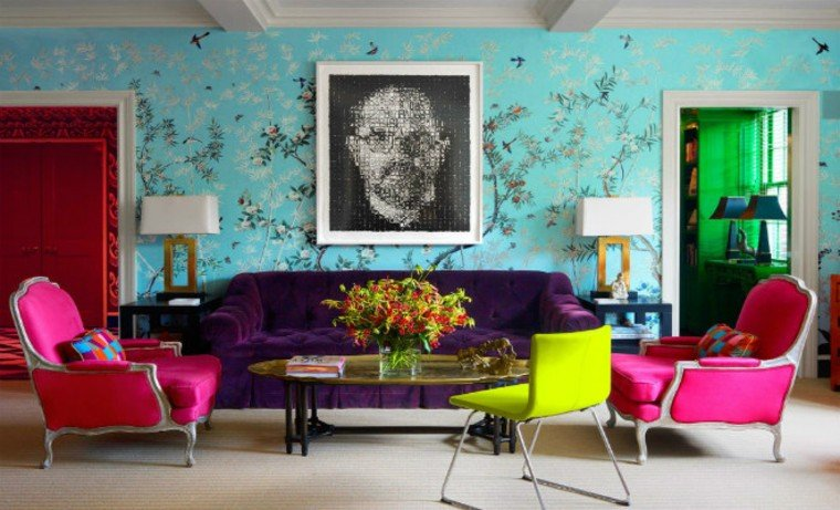 A stunning feature wall with an artwork