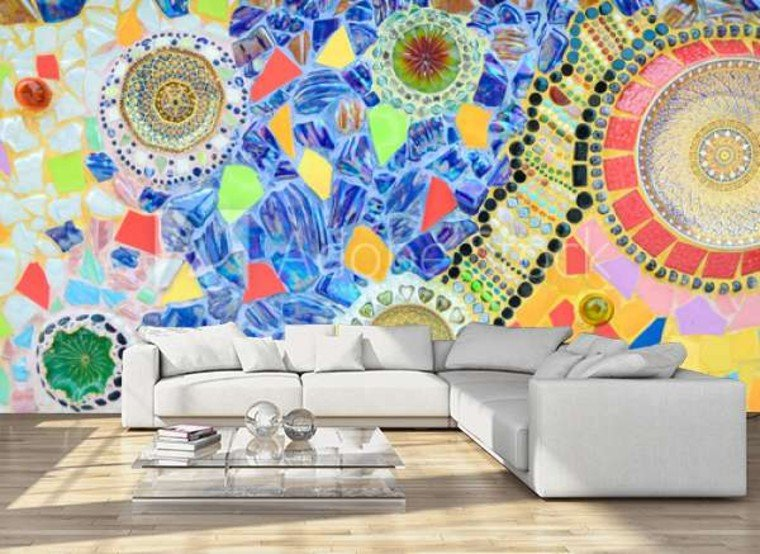 Colorful statement wall.