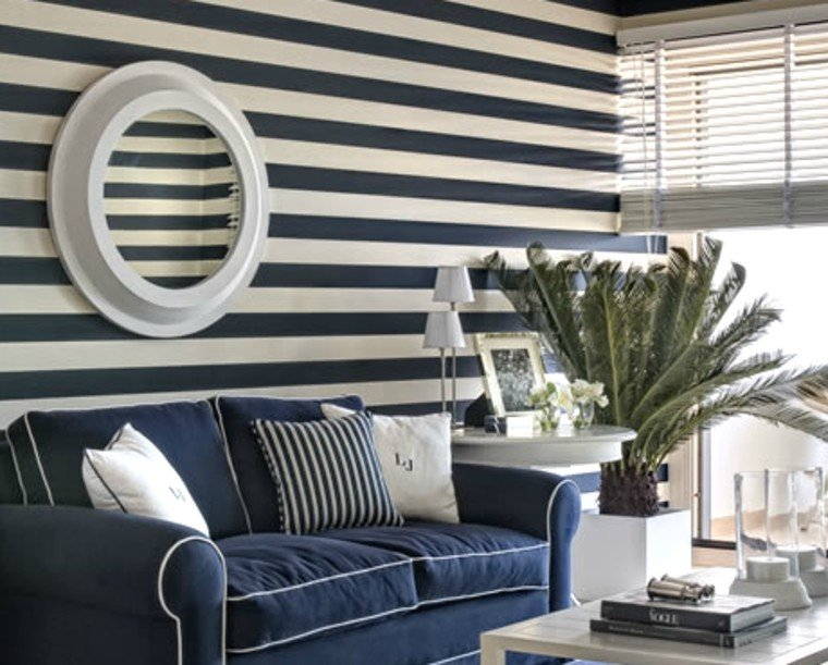 Stripes are beautiful as a feature wall.