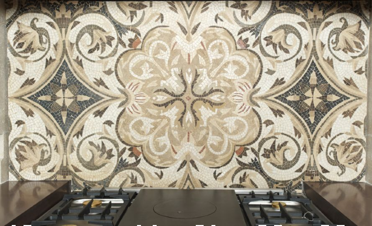 Sophisticated Mosaic Pattern for a backsplash.