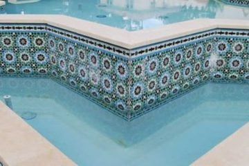 Swimming pool mosaic artwork and design