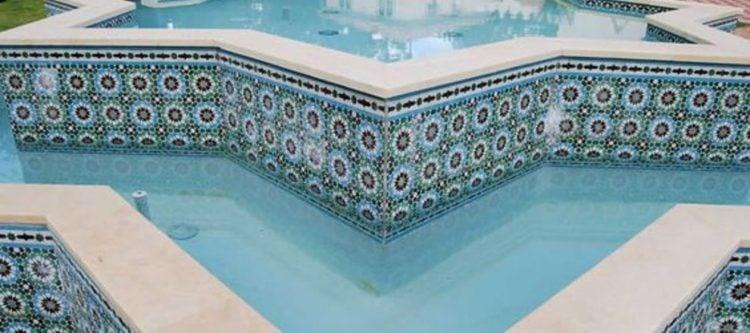 Swimming pool mosaic artwork and design