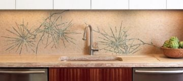 Stunning and simple kitchen mosaic backsplash