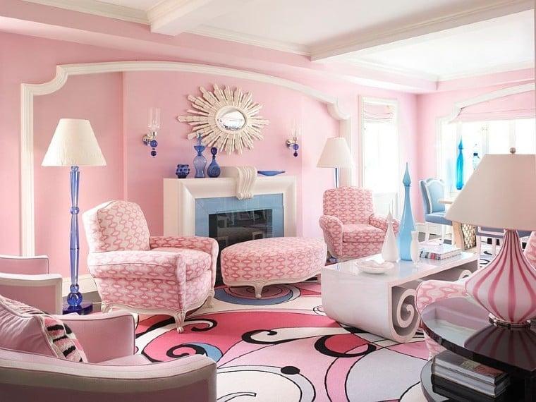 Classy pink interior design