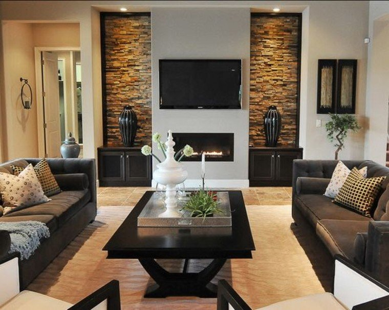 Contemporary living room design.