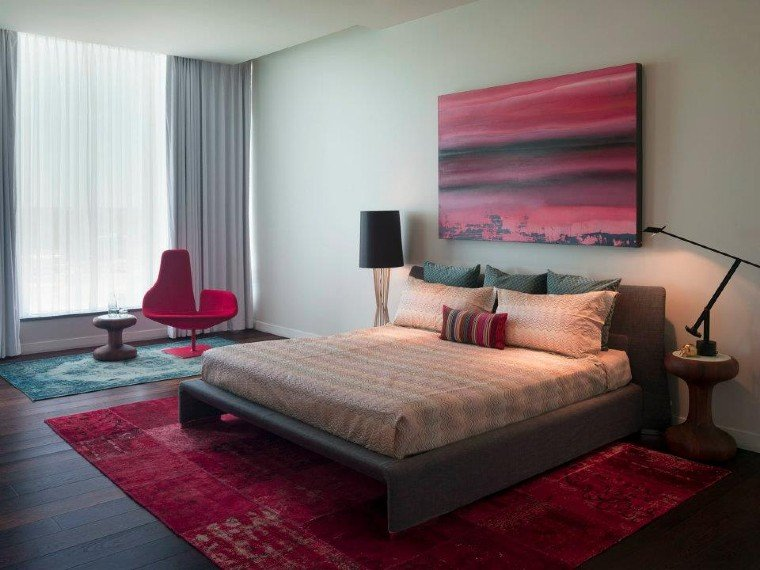 Elegant bedroom interiors.